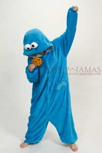Animal-Adult-Onesie-Sesame-Street-Cookie-Monster-Kigurumi-Pajama