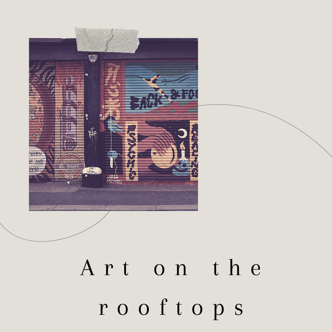 Art on rooftops
